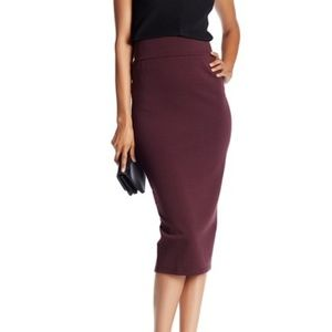 14TH & UNION | Deep Purple Long Pencil Skirt Chic